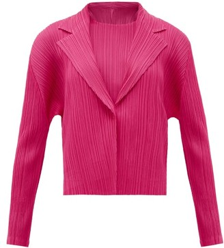 Pleats Please Issey Miyake Technical-pleated Blazer - Pink