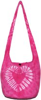 "All Best Thing TIE DYE Bohemian Hipster Hobo Boho Hippie Crossbody Bag Purse 39"" Heart"