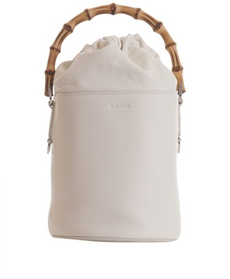 Jil Sander Small Bucket Bag With Bamboo Handle