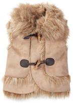 Jessica Simpson Knit Faux Fur Vest (Baby Girls)