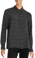 Vince Pindot Floral Silk Shirt