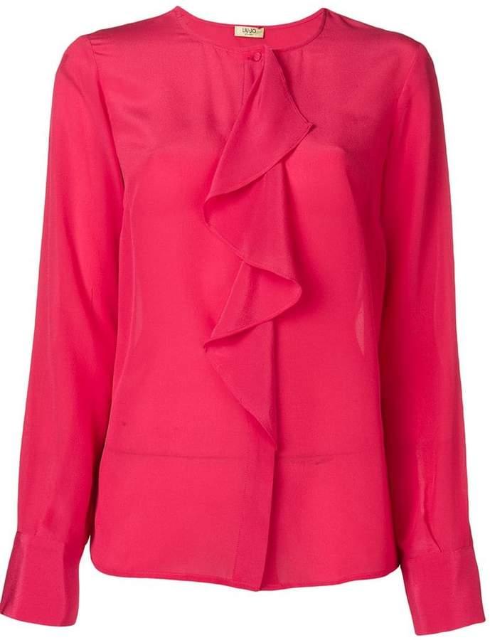 Liu Jo ruffled longsleeved blouse