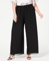 Alex Evenings Womens Plus Size Dress Pants and Chiffon Blouse