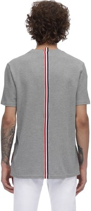Thom Browne Intarsia Band Cotton Jersey T-shirt