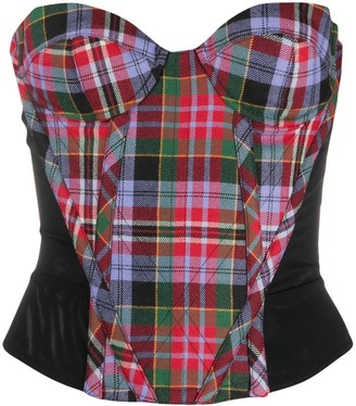 Vivienne Westwood Check Strapless Top