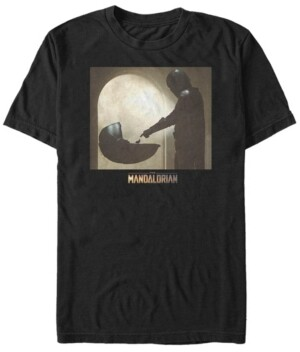 Fifth Sun Star Wars The Mandalorian The Child Scene Logo Short Sleeve Men's T-shirt