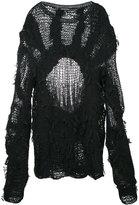 Ann Demeulemeester multi-yarn knit jumper