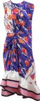 Emilio Pucci Ruffle Hem Printed Dress