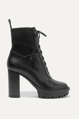 Gianvito Rossi Martis 90 Lace-up Leather Ankle Boots - Black