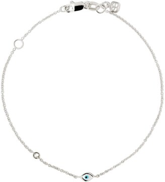 Sydney Evan 14kt white gold Evil Eye diamond bracelet