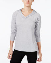 Ideology Rapidry Heathered Performance Hooded Top, Only at Macy's