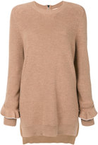 No.21 frill sleeve jumper - women - Virgin Wool - 38