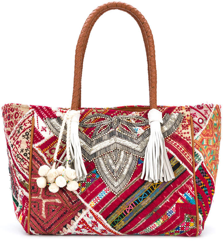 Antik Batik embroidered tote bag