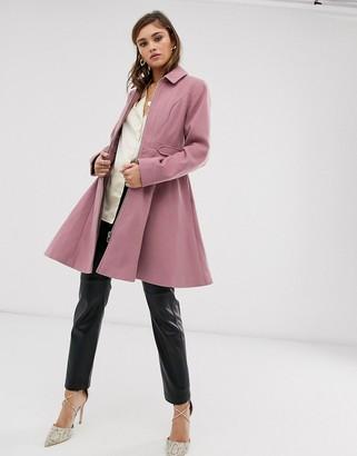 Asos DESIGN swing coat with zip front