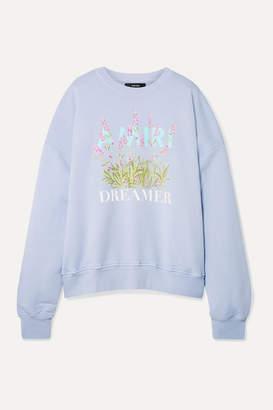 Amiri Oversized Printed Cotton-jersey Sweatshirt - Blue