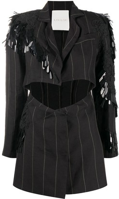 Loulou Pinstriped Blazer Mini Dress