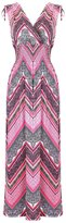 2LUV Women's Shoulder Ties Floral Summer Holiday Resort Maxi Dress M