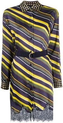 Ermanno Ermanno Diamond Stripe Shirt Dress