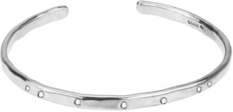 Yvonne Henderson Jewellery Silver Torque Bangle With White Sapphires
