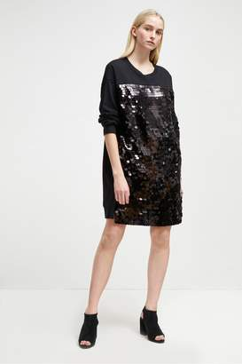 French Connection Emilia Sequin Jersey Sweater Dress