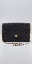 Wgaca Vintage Vintage Chanel Black Quilted Bag