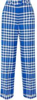 Jacquemus Plaid Woven Straight-leg Pants - Bright blue