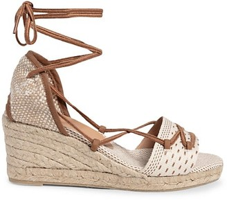 Castaner Becky Linen Espadrille Wedge Sandals