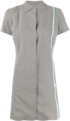 Coperni Houndstooth-Print Shirt Dress