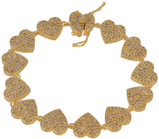 Forever Creations Usa Inc. Forever Creations Gold Over Silver 2.80 Ct. Tw. Diamond Bracelet