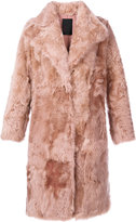 Liska - buttoned fur coat - women - Silk/Lamb Fur - M