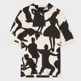 Paul Smith Women's Cream 'Dancers' Print Short-Sleeve Sweatshirt