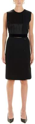 Burberry Panel Detail Pleated Shift Dress