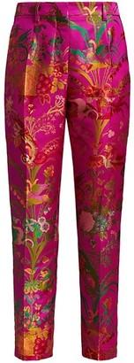 Etro Bristol Floral Jacquard Satin Pants