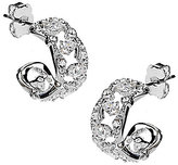 Nadri Victoria Cubic Zirconia Hoop Earrings