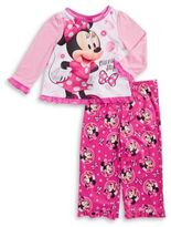 AME Sleepwear Little Girl's Minnie Mouse Pajama Set