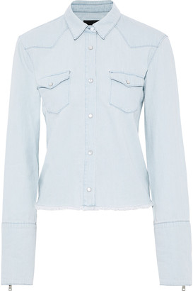 RtA Frayed Denim Shirt