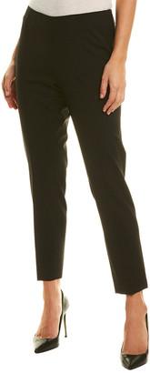Lafayette 148 New York Side Zip Wool-Blend Crop Pant