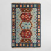 Cost Plus World Market Blue Flatweave Wool Pradeep Area Rug