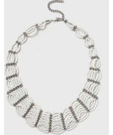 Dorothy Perkins Womens White Seed Bead Loop Necklace- White