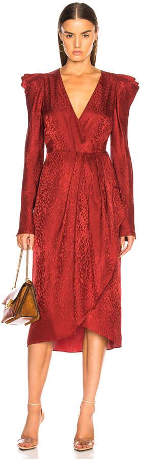 A.L.C. Carolina Dress in Crimson | FWRD