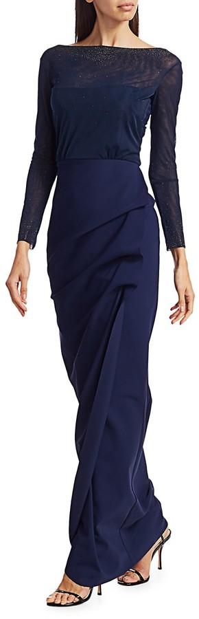 Thumbnail for your product : Chiara Boni Nova Beaded Illusion Gown