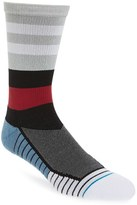 Stance Men's Fusion Athletic - Tidal Stripe Crew Socks