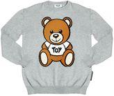 Moschino Bear Intarsia Cotton & Wool Sweater