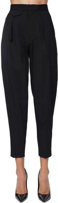 DSQUARED2 High Waist Stretch Wool Gabardine Pants