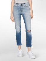 Calvin Klein Ultimate Skinny High Rise Crop Lille Wash Jeans