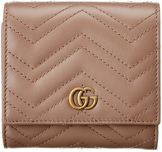 Gucci Gg Marmont Leather French Wallet