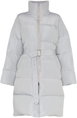 Blindness Belted Mid-Length Puffer Coat