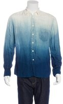 Blue Blue Japan Unen Linen Ombré Shirt w/ Tags