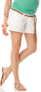 A Pea in the Pod Self Belly Button Detail Maternity Shorts