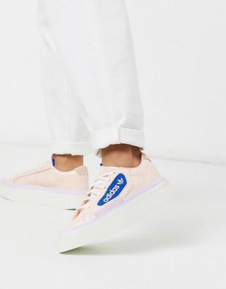 adidas Hyper Sleek platform trainers in pink